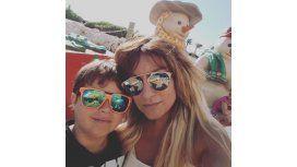 Tauro de vacaciones con su hijo