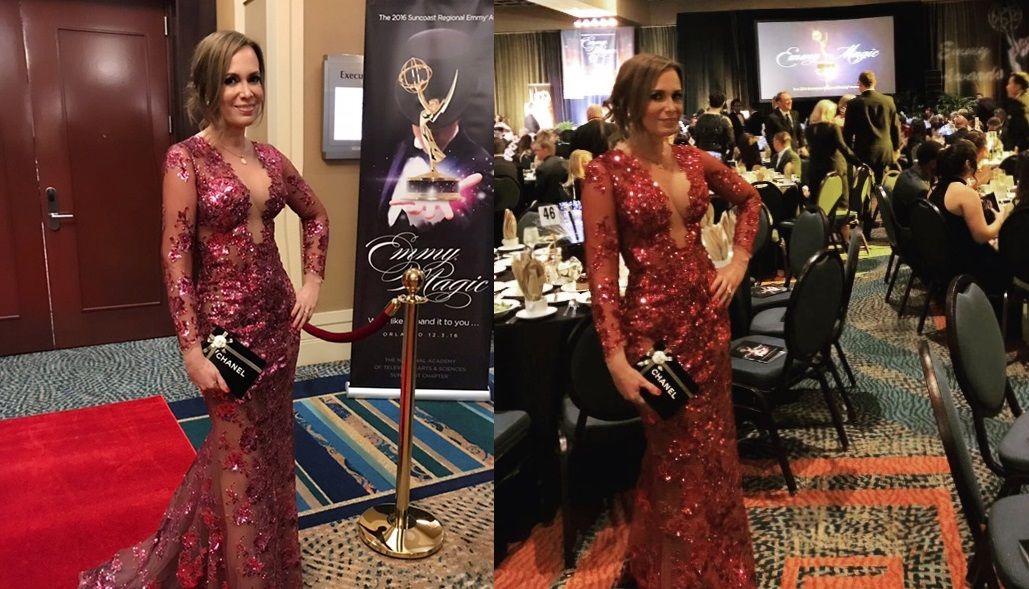 Premios Emmy: Natalia Denegri impactó con su look
