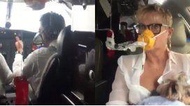 Xuxa se grabó en pleno vuelo de emergencia