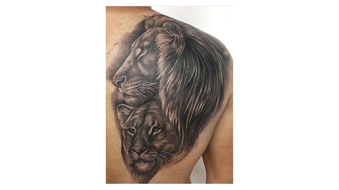 El León Y La Leona El Tatuaje Que Le Dedicó Leo Squarzon A Amalia