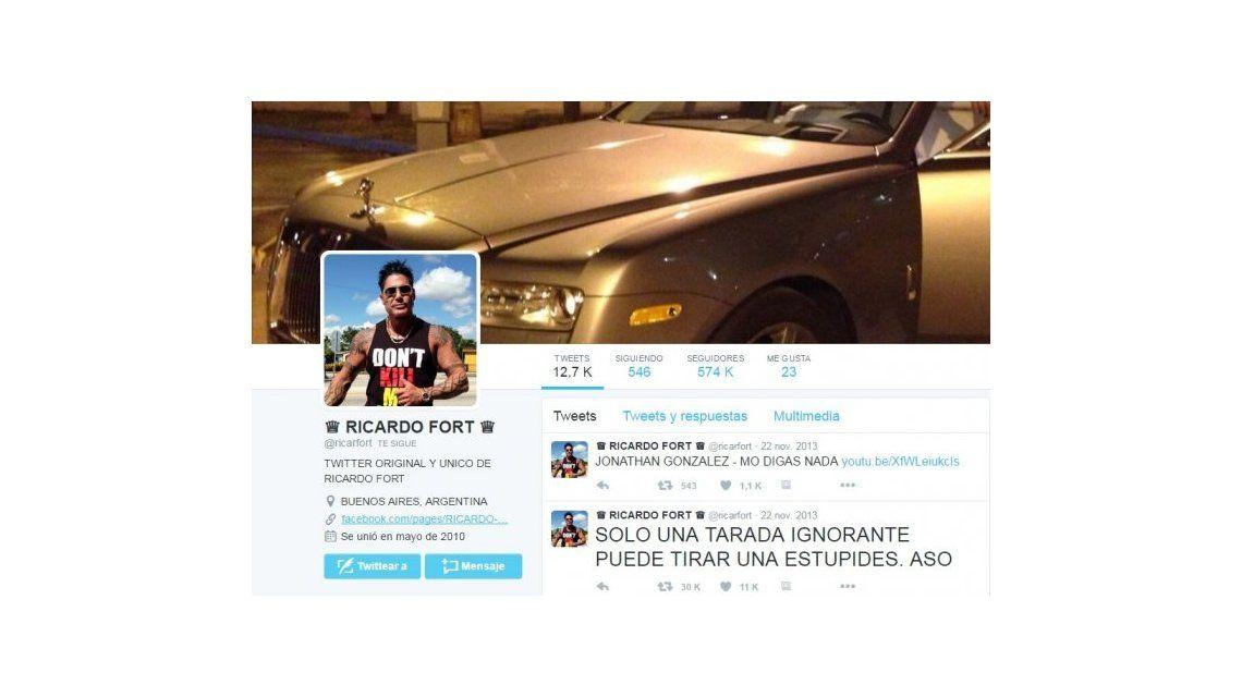 La cuenta de Twitter de Ricardo Fort sigue vigente