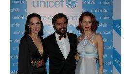 Natalia Oreiro, Liz Solari y Peter Lanzani, juntos en la cena de UNICEF.