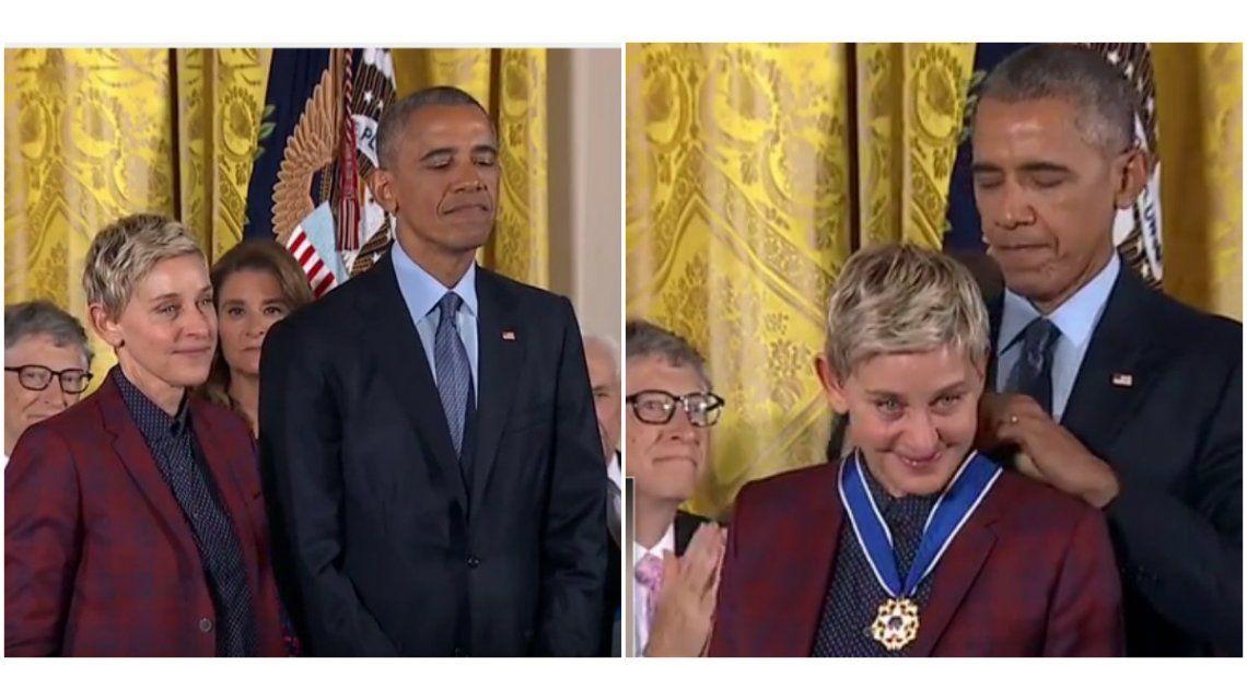 Ellen Degeneres recibió la Medalla de la Libertad.