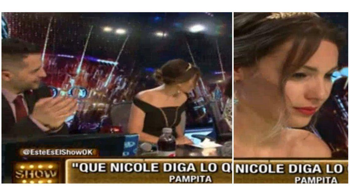 Pampita no aplaudió a Nicole cuando ganó.