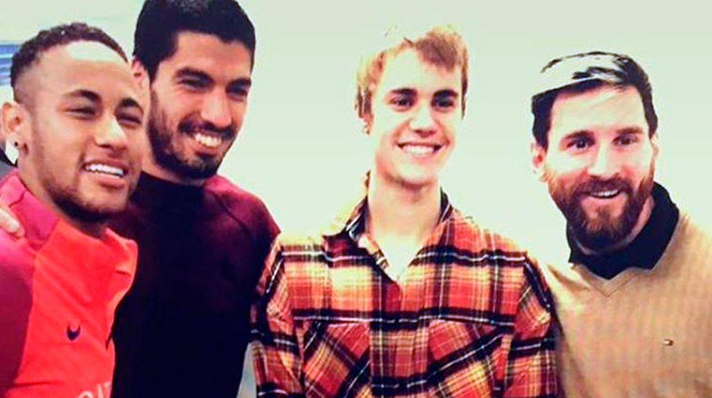 El encuentro de Justin Bieber y Lionel Messi.