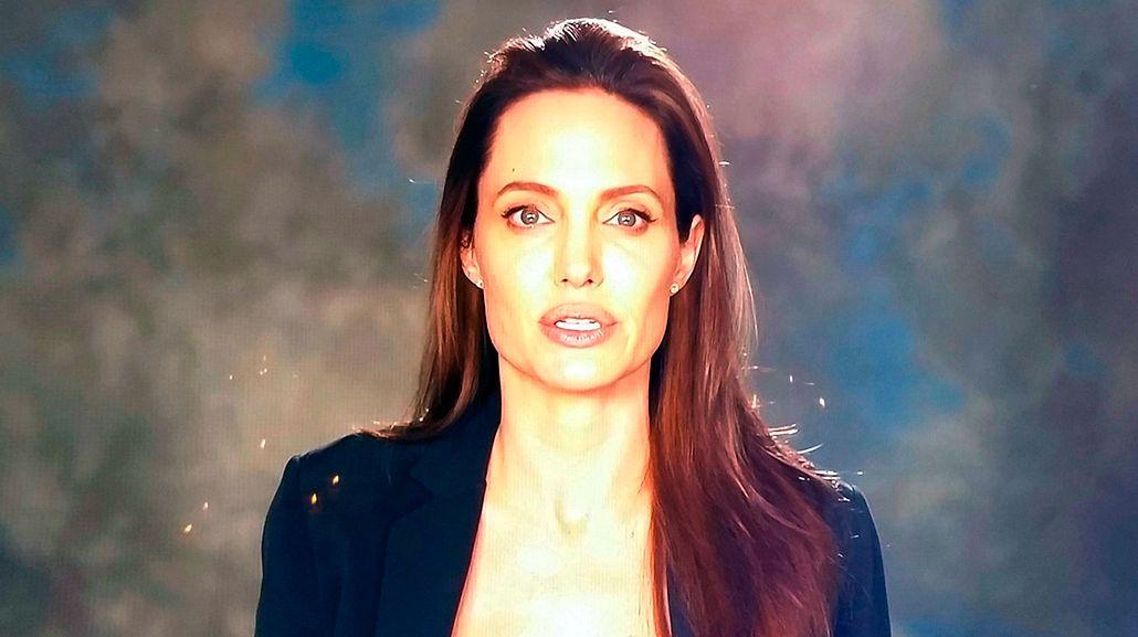 Reapareció Angelina Jolie