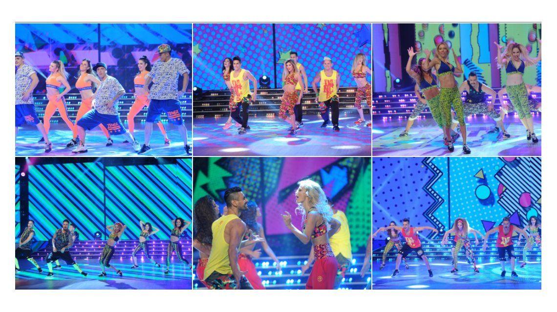 Seis parejas debieron bailar otra vez la zumba.