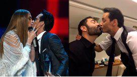 Marc Anthony besó a JLo en la noche de los Grammys