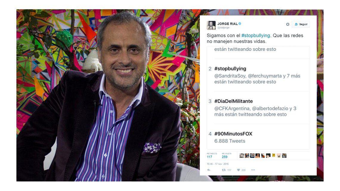 #StopBullying, la campaña de Rial que llegó a ser TT