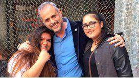 Jorge Rial y sus hijas, Morena y Rocío, agredidas.
