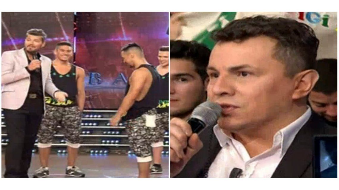 Hugo Ávila y un tenso momento con su novio Jorgito Moliniers.