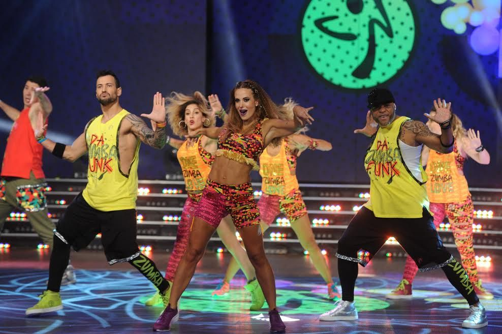 Jésica Cirio bailó zumba en ShowMatch.