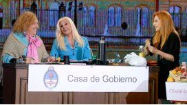 Nacha con Susana Giménez.