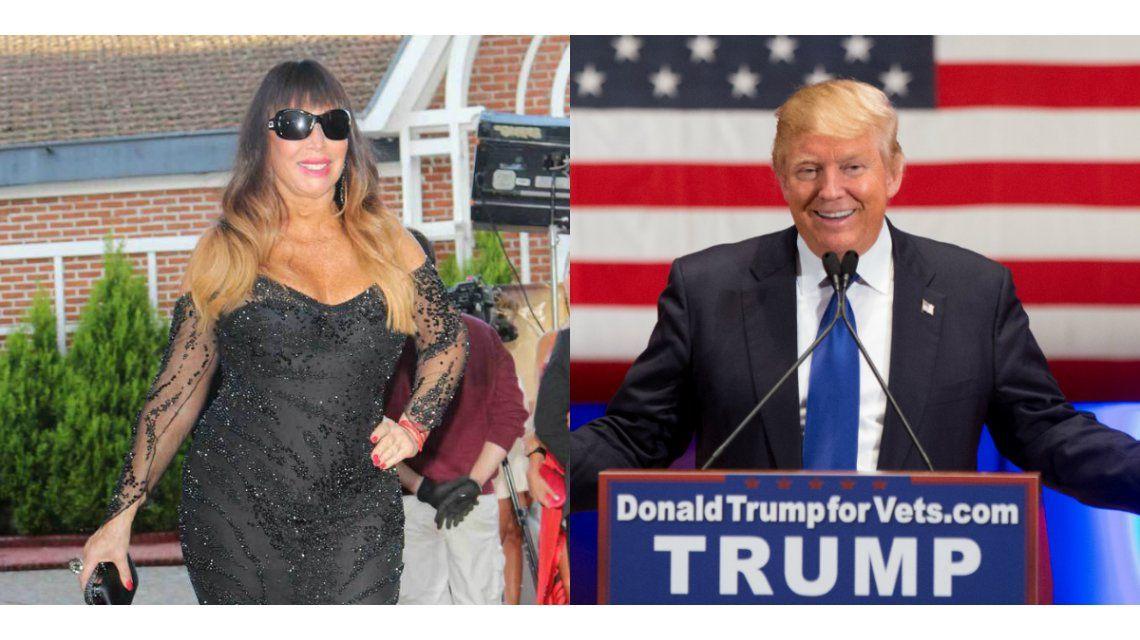 Moria Casán apoyó a Donald Trump.
