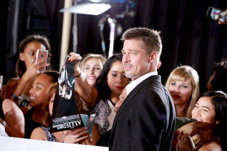 Brad Pitt en la presentaron del film Allied