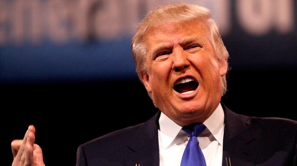 La imitación de Donald Trump.