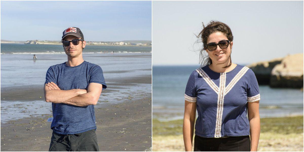 Fonzi y Barrientos en Puerto Madryn
