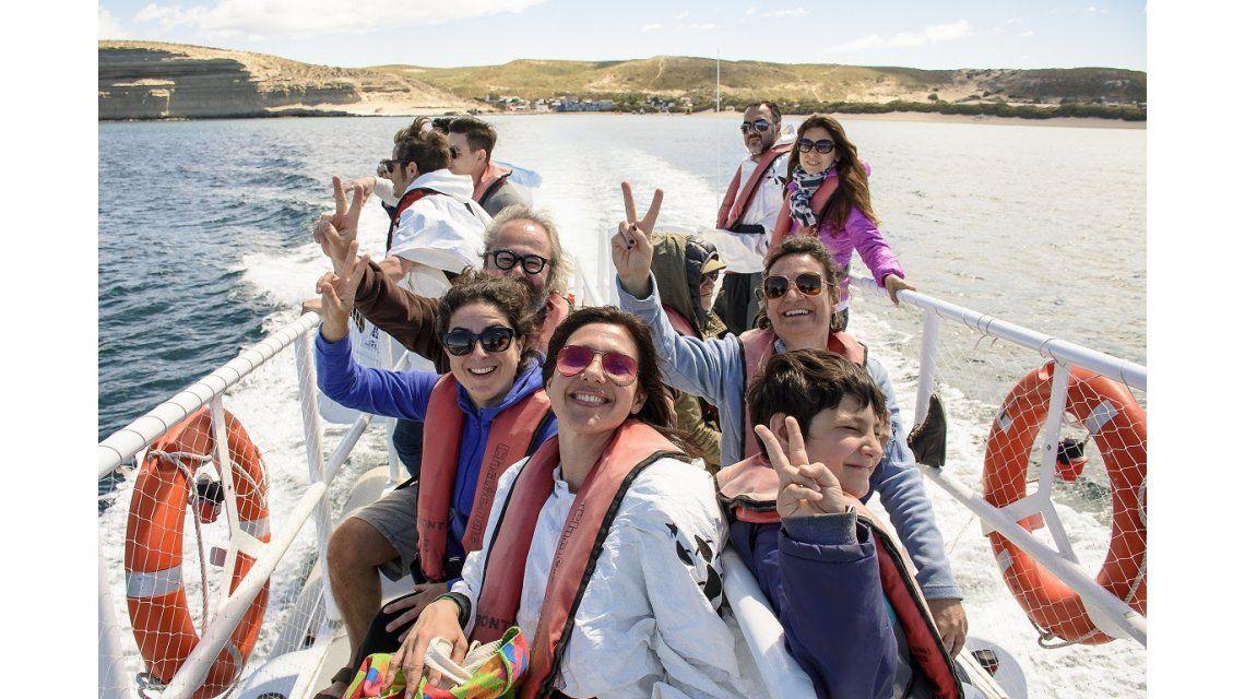 Los actores en Puerto Madryn