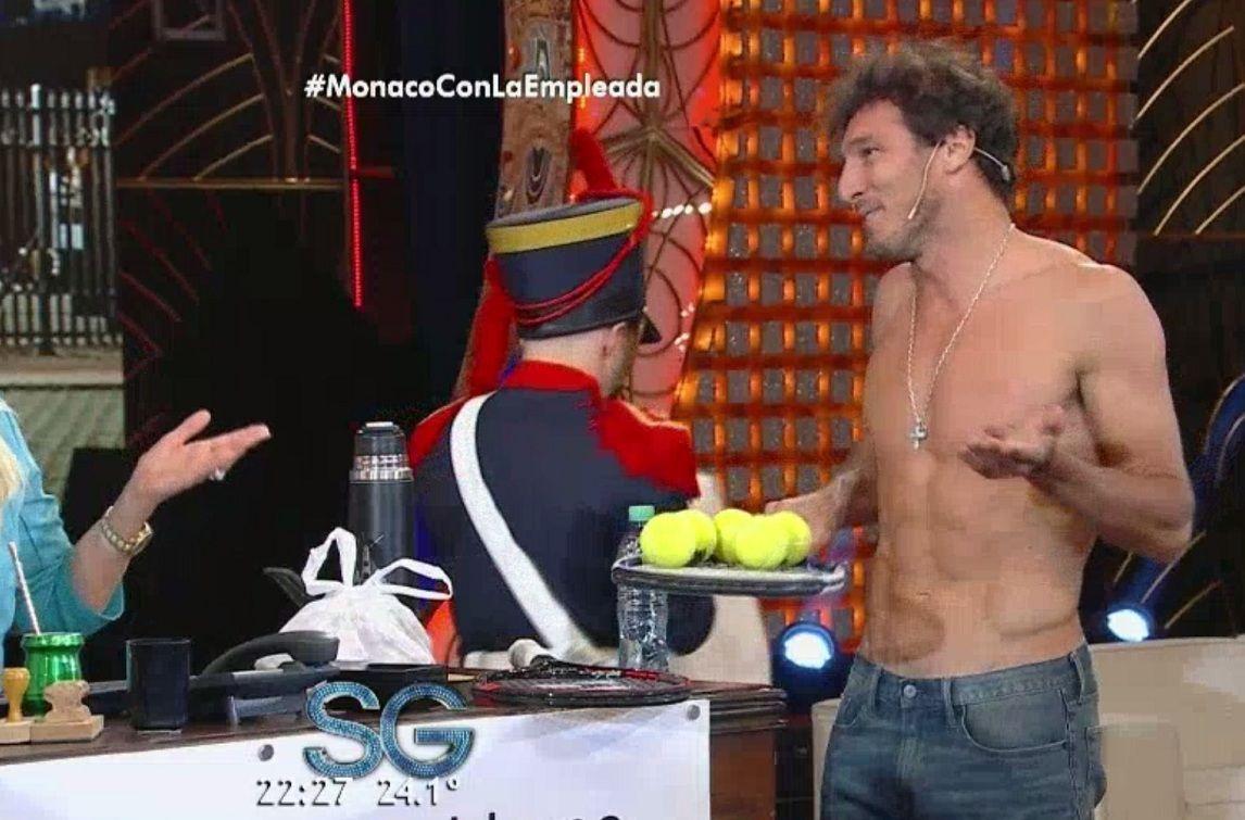 Mónaco se quedó en cuero con Susana Giménez