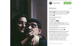 Jana y Diego, en Instagram