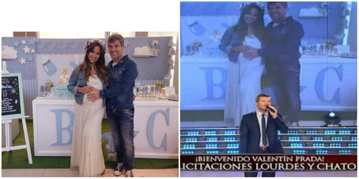 El Chato Prada y Lourdes Sánchez fueron padres de Valentín.
