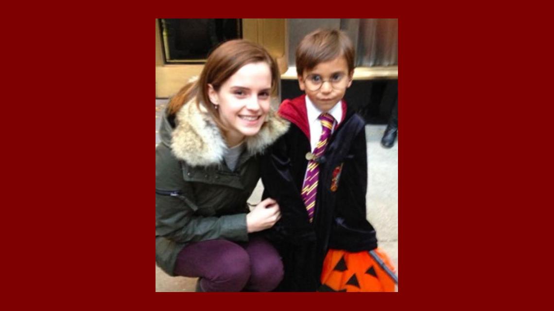 Emma Watson sorprendió a un niño en las calles de Nueva York.