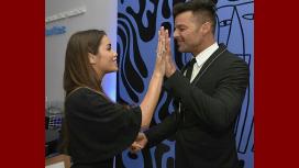 Lali Espósito, presente en el show que Ricky Martin brindó en Buenos Aires.