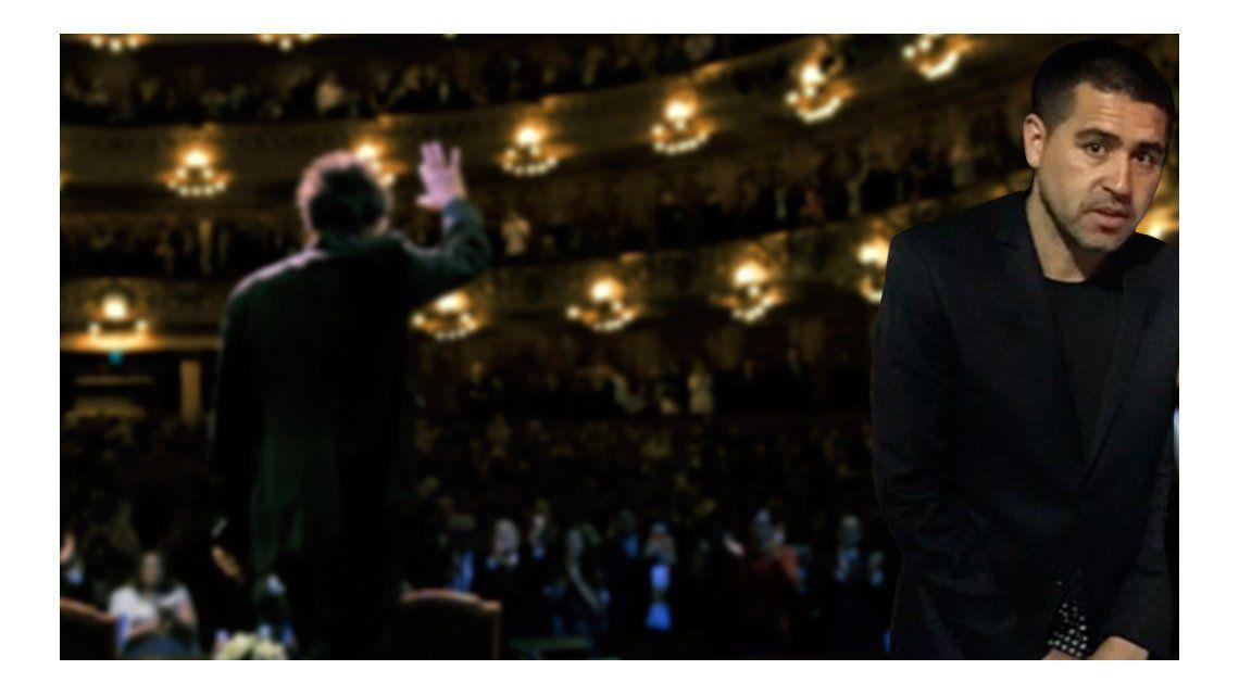 Riquelme fue a ver a Al Pacino.
