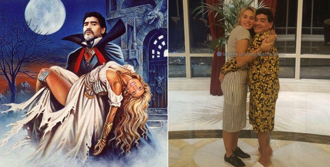 Rocío Oliva festejó el cumpleaños de Maradona con divertidas fotos.
