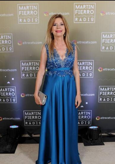Mercedes Ninci en la entrega de los Martín Fierro a la radio - Crédito: Prensa El Trece