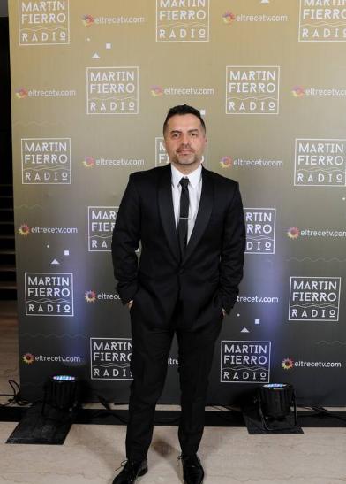 Ángel De Brito en la entrega de los Martín Fierro a la radio - Crédito: Prensa El Trece