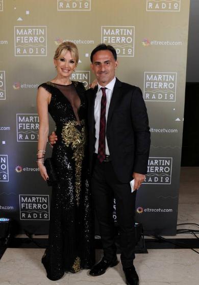 Yanina y Diego Latorre en la entrega de los Martín Fierro a la radio - Crédito: Prensa El Trece