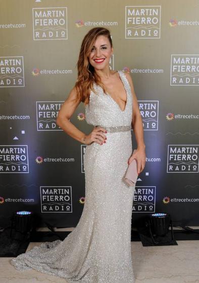 Mariana Brey en la entrega de los Martín Fierro a la radio - Crédito: Prensa El Trece