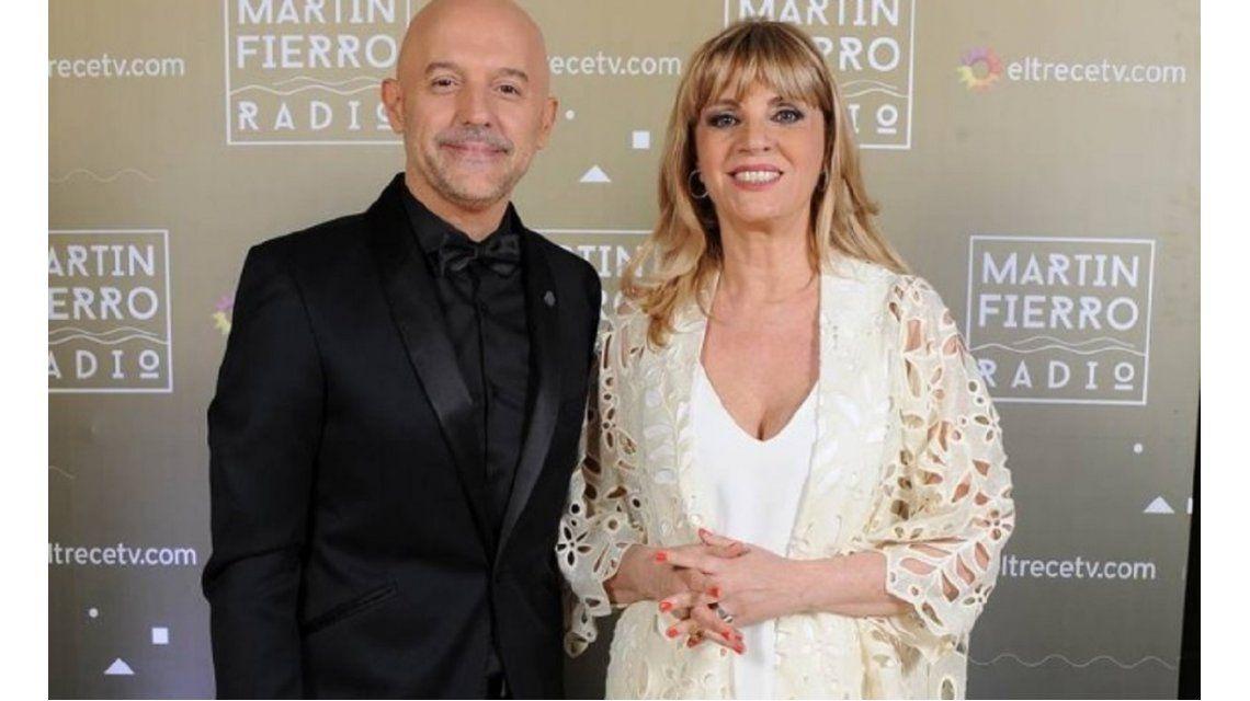 Guillermo López y Teté Coustarot en los Martín Fierro a la radio - Prensa El Trece