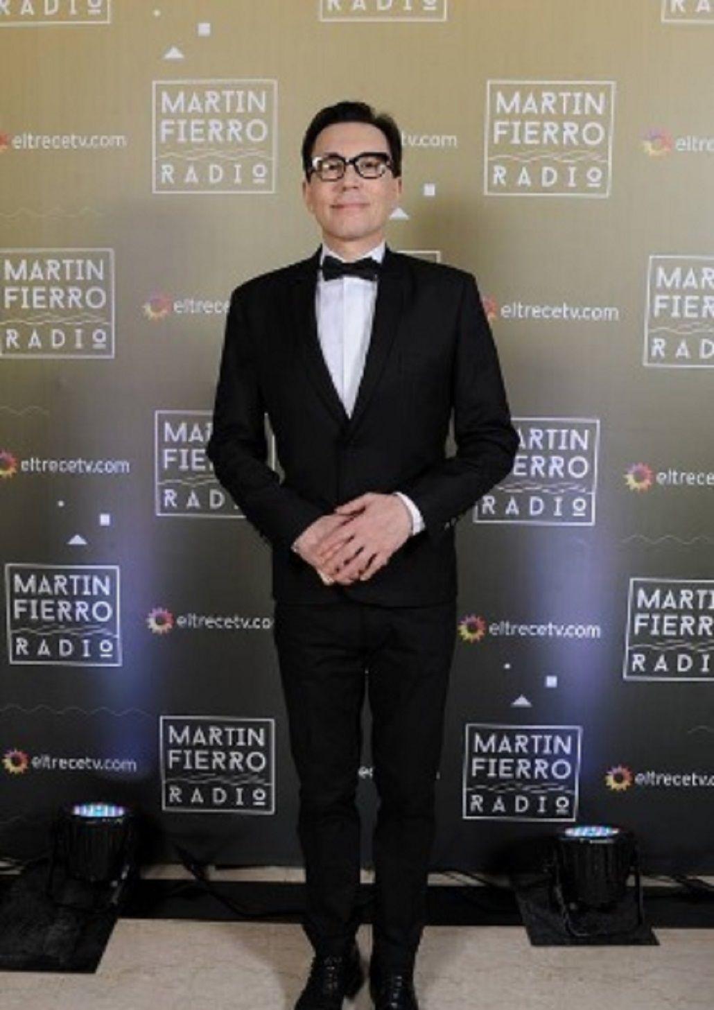 Marcelo Polino en los Martín Fierro a la Radio - Crédito Prensa El Trece