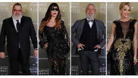 Lanata, Moria, Lalo mir y Yanina Latorre en la entrega de los Martín Fierro a la radio - Crédito: Prensa El Trece
