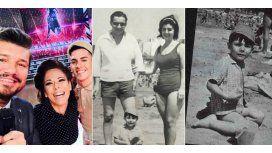 Emotiva sorpresa de Iliana a Tinelli: mostró fotos de la infancia del conductor