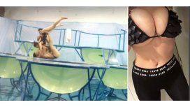 Charlotte Caniggia revolucionó las redes con su look sexy para el aquadance.