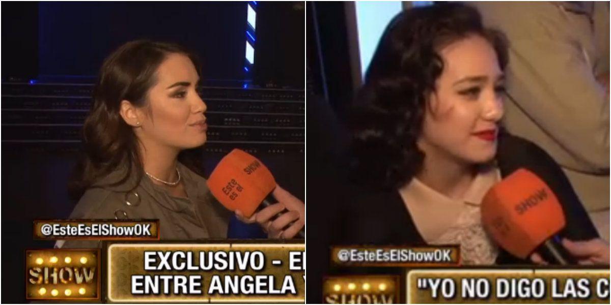 Lali Espósito prefirió no cruzarse en cámara con Ángela Torres.