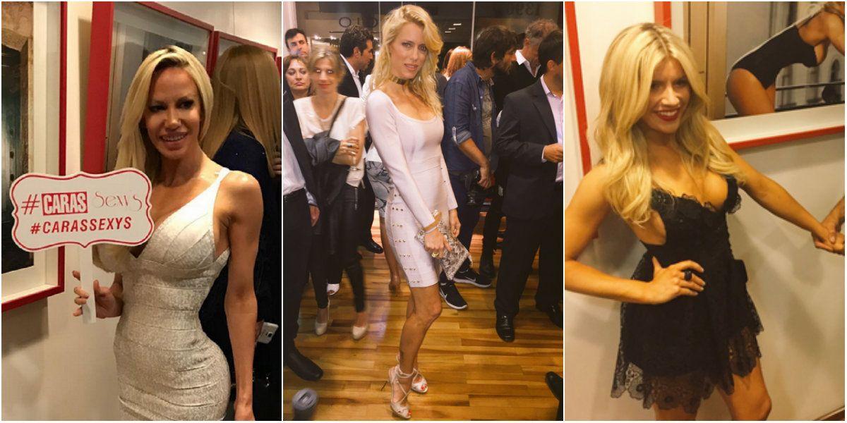Las famosas se lucieron con sus looks en el evento de la revista Caras.