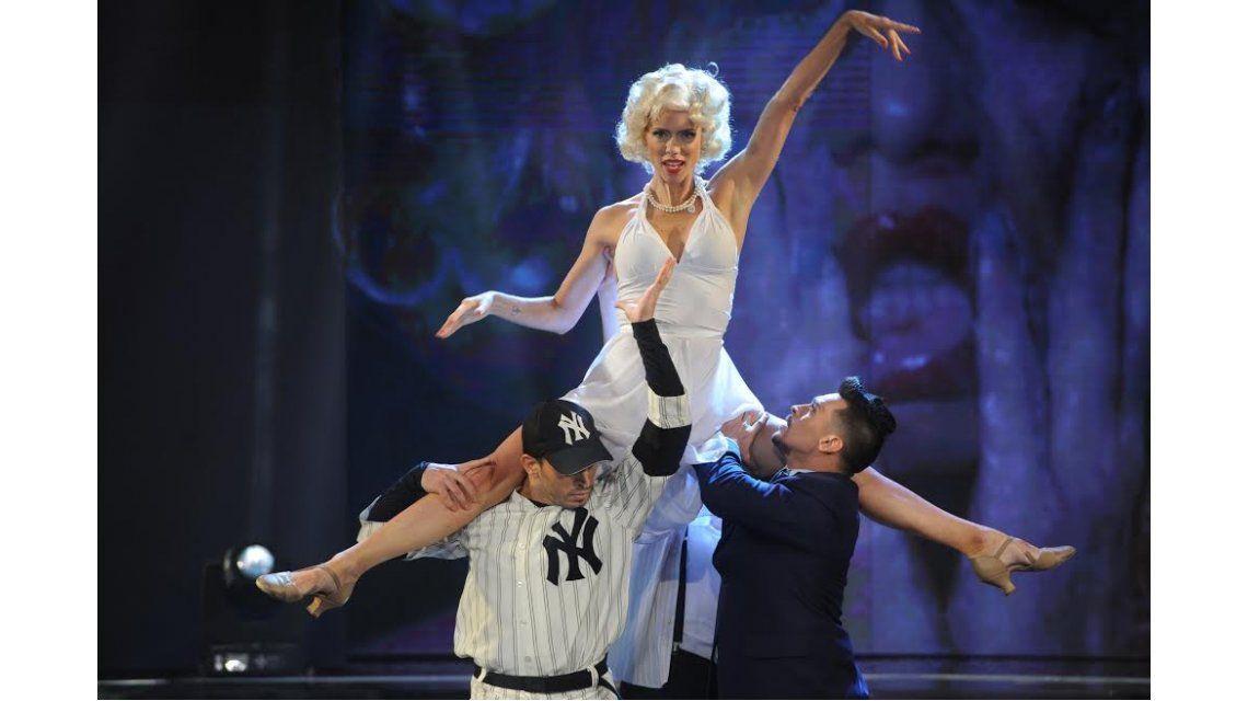 Nicole Neumann no convenció al jurado con su imitación a Marilyn Monroe.