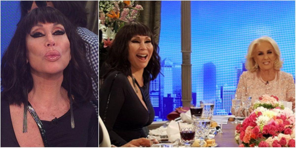 Moria Casán hizo reír a todos en el programa de Mirtha Legrand.