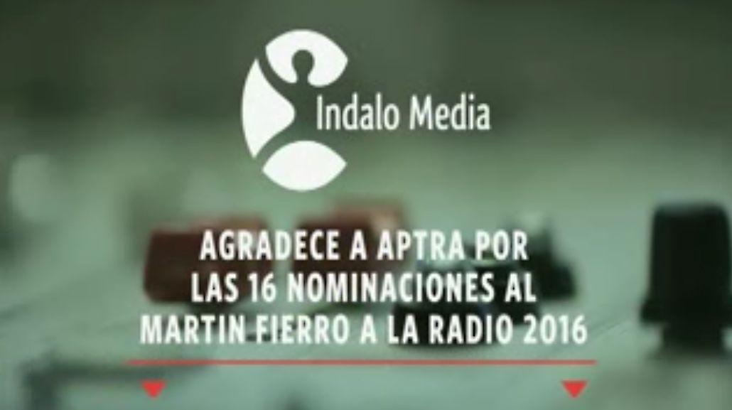 Indalo Media agradece a APTRA las 16 nominaciones al Martín Fierro de radio