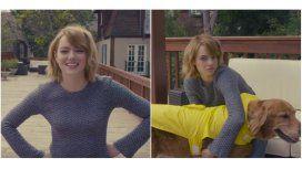 Emma Stone imitó a Britney Spears en su casa de Los Ángeles.