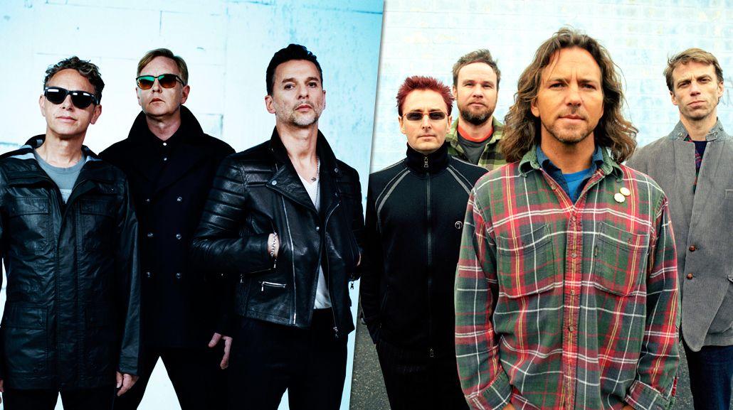 Depeche Mode y Pearl Jam