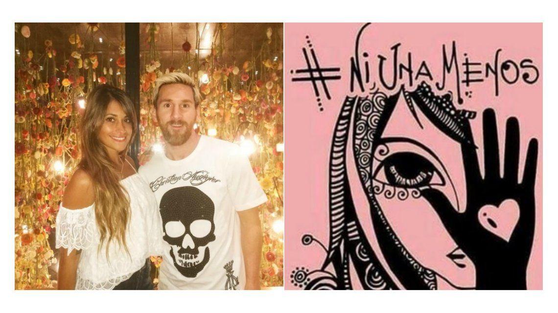 {altText(Antonella Roccuzzo se sumó a #NiUnaMenos.<br>,La mujer de Messi se sumó a #NiUnaMenos:
