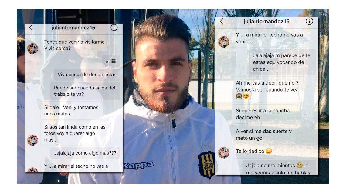 Julián Fernández, escrachado por una botinera: mirá cómo abrió el paraguas