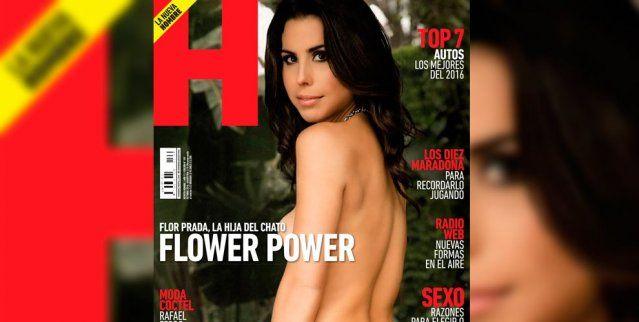 Florencia Prada en Revista Hombre.