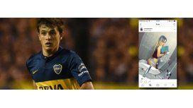 El escrache a un jugador de Boca.