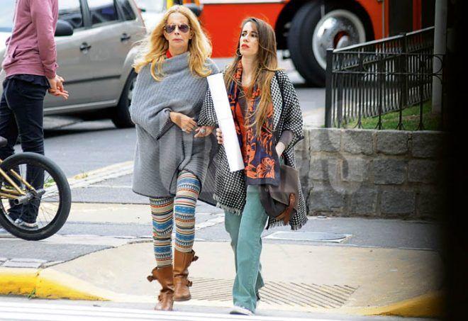 La actriz junto a su hija Malena